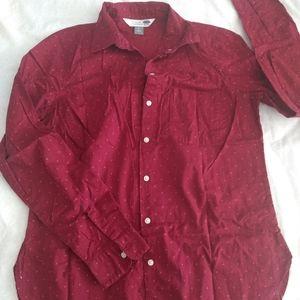 Polka dot button-down shirt - Old Navy size S/P